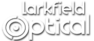 Larkfield Optical white logo